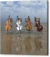 4 Cellos... - 4 Violoncelles... Canvas Print