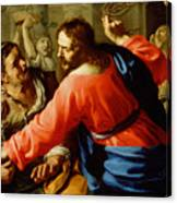 Christ Cleansing The Temple Canvas Print