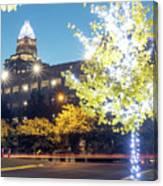 Christmas Season Decorations Around Charlotte North Carolina And Canvas Print