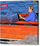 Classic Gar Wood Runabout Canvas Print