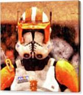 Clone Trooper Commander - Wax Style Canvas Print