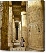 Colonnade In An Egyptian Temple Canvas Print