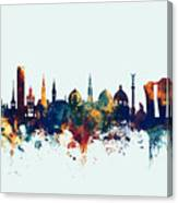 Copenhagen Denmark Skyline Canvas Print