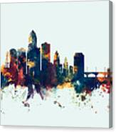 Des Moines Iowa Skyline Canvas Print