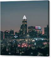 Early Morning In Charlotte Ncorth Carolina January 2018 Canvas Print