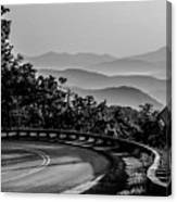 Early Morning Sunrise Over Blue Ridge Mountains Canvas Print