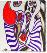 4 Faces Of Laurel - Iv Canvas Print