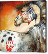 4 Feathers Indian War Pony Canvas Print