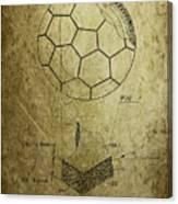 Football Patent Canvas Print