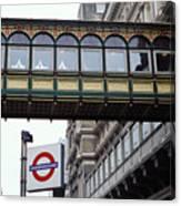 Footbridge In Central London Canvas Print