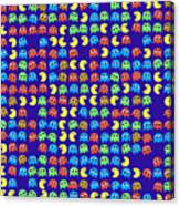 Game Monsters Seamless Generated Pattern Canvas Print