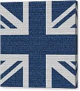 Great Britain Denim Flag Canvas Print