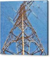 High Voltage Pylon Canvas Print