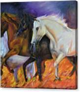 4 Horses Of The Apocalypse Canvas Print