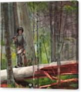 Hunter In The Adirondacks Canvas Print
