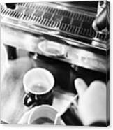 Italian Espresso Expresso Coffee Making Preparation With Machine Canvas Print