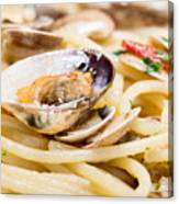 Italian Spaghetti And Clams Made In Naples Canvas Print