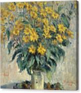 Jerusalem Artichoke Flowers Canvas Print