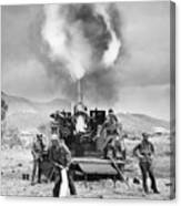 Korean War: Artillery Canvas Print