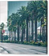 Las Vegas Nevada City Skyline And Vegas Strip At Night Canvas Print