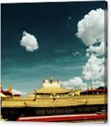 Lhasa Jokhang Temple Fragment Tibet Artmif.lv Canvas Print