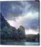 Lijiang River Boat Tour In The Rain-arttopan-china Guilin Scenery Canvas Print