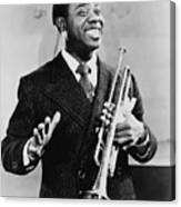 Louis Armstrong 1901-1971, African Canvas Print