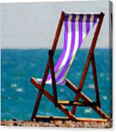 Lounging In Long Beach Canvas Print