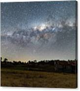Milky Way Over A Farm Shed Canvas Print