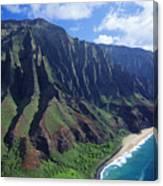Na Pali Coast Aerial Canvas Print