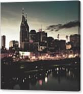 Nashville At Dusk Canvas Print