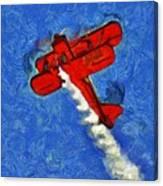 Painting Of Wingwalker Danielle Canvas Print