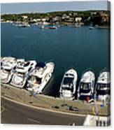 panoramic town 1 - Panorama of Port Mahon Menorca Canvas Print
