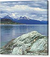 Panoramic View Of Ushuaia, Tierra Del Canvas Print