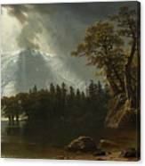 Passing Storm Over The Sierra Nevadas Canvas Print