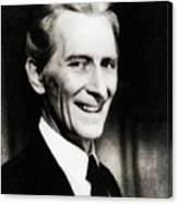 Peter Cushing, Vintage Actor Canvas Print