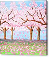 Pink Garden, Oil Painting Canvas Print
