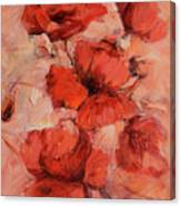 Poppy Flowers Handmade Oil Painting On Canvas Canvas Print