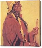 Portrait Of Billjones Joseph Henry Sharp Canvas Print