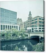 Providence Ri City Skyline Autumn Season Canvas Print