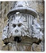 Public Fountain In Dubrovnik Croatia Canvas Print