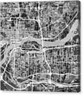 Quad Cities Street Map Canvas Print