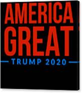 Reelect Trump For President Keep America Great Dark Canvas Print