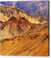 Rocks And Stones Mountains Ladakh Landscape Leh Jammu Kashmir India Canvas Print