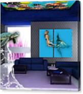 Rooftop Saltwater Fish Tank Art Canvas Print