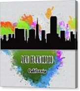 San Francisco Skyline Silhouette Canvas Print