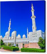 Sheikh Zayed Grand Mosque Canvas Print
