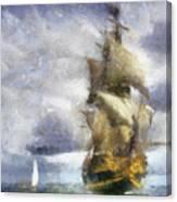 Ships Ahoy Canvas Print