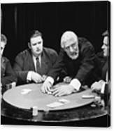 Silent Film Still: Gambling Canvas Print