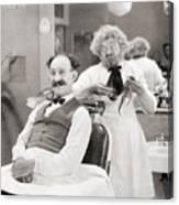 Silent Still: Barber Shop Canvas Print